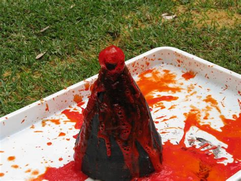 Handmade Volcano - how to make a volcano learning 4