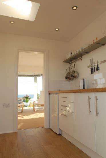 Kitchen Living And Beyond St Ives Cornwall Self Catering Studio Apartment