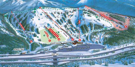ski resort map usa boreal ski trail map free