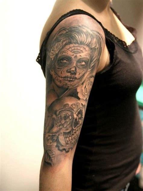 tattoo messicano 641 miguel bohigues tattoo volto donna teschio messicano
