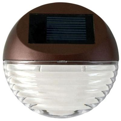 Moonrays Solar Powered Mini Led Bronze Round Outdoor Deck Solar Powered Lights Home Depot