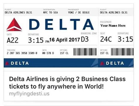 quot get 2 free delta airline tickets quot scam hoax slayer