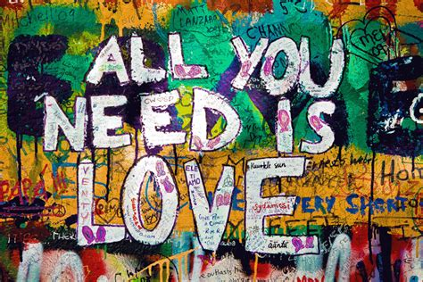 Graffiti Art All You Need Is Love Art Print on Stretched canvas The Block Shop