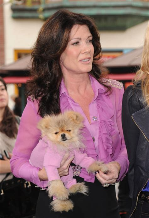lisa vanderpump pink hair lisa vanderpump todd in celebrities visit extra zimbio