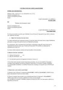 modele contrat de location meuble document