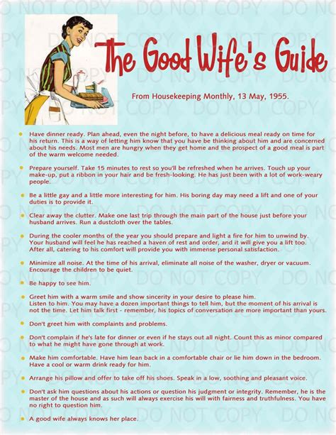 good housewife guide printable retro housewife themed bridal shower display
