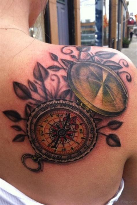 compass shoulder tattoo 50 amazing compass tattoos on shoulder