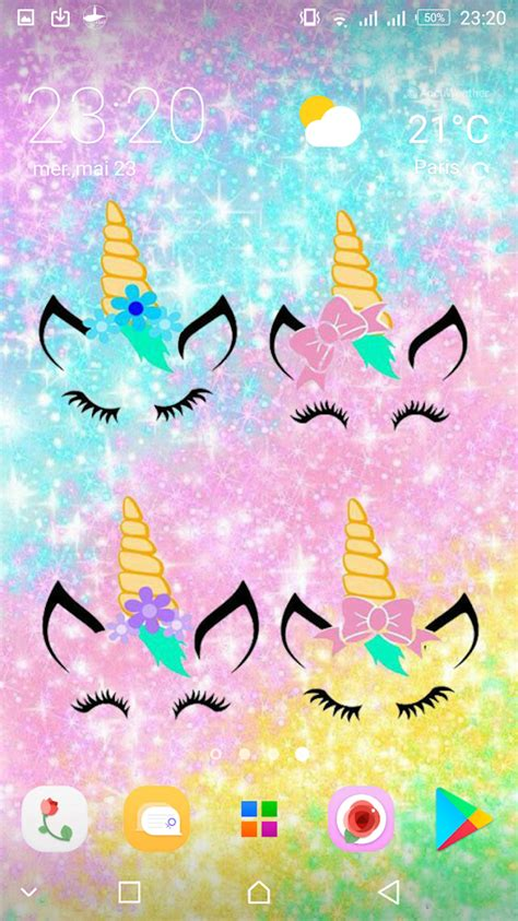 kawaii unicorn girly wallpapers cute backgrounds  apk