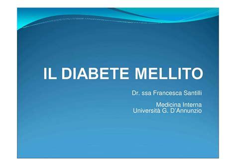 quiz medicina interna diabete mellito dispense