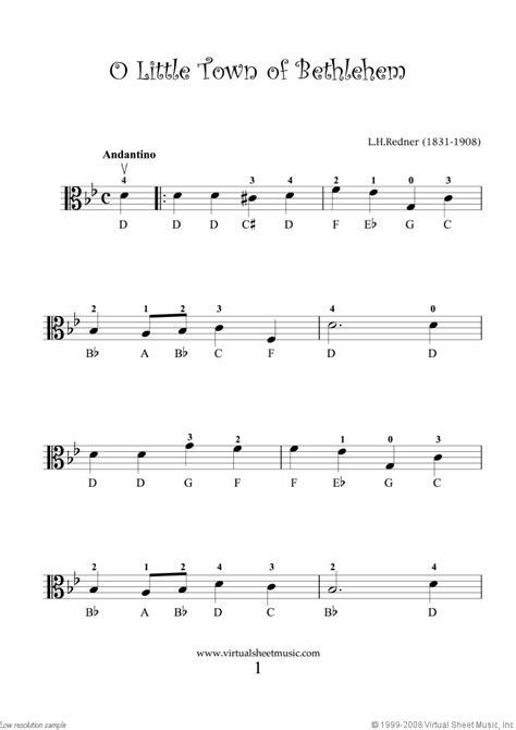 "Viola Solo Christmas Sheet Music Carols ""For Beginners"