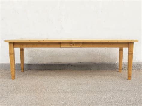 massivholz säulen esstisch tisch massivholz fichte 250 x 100 cm