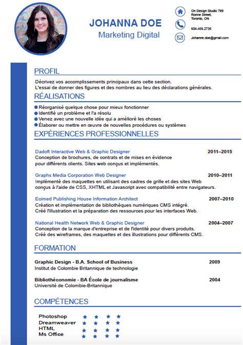 Les Type De Cv by Exemple Type De Cv Memoireveritejustice
