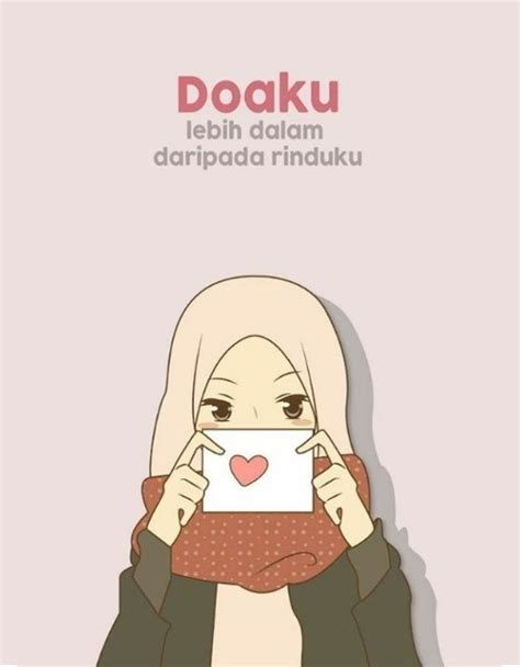 keren  gambar kartun muslimah bercadar menikah