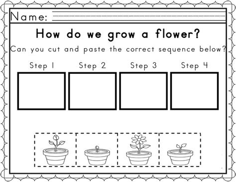preschool sequencing activities printable worksheets for sequencing in spring sequencing