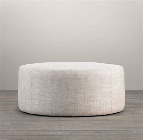 restoration hardware ottoman tray 36 quot cooper upholstered ottoman ottomans benches