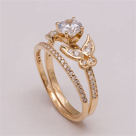 Verlobungsring Besonders by Butterfly Bridal Set Gold And Engagement Ring