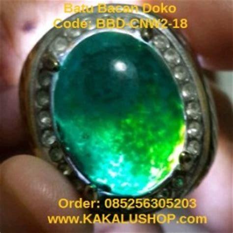 Batu Cincin Bacan Hijau jual cincin batu bacan doko warna hijau cincau
