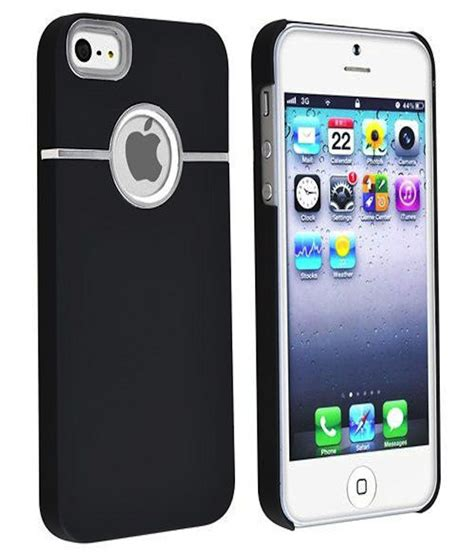 Softcase Iphone 5g 5s rka deluxe w chrome rubberized snapon back cover for apple iphone 5 5s 5g black
