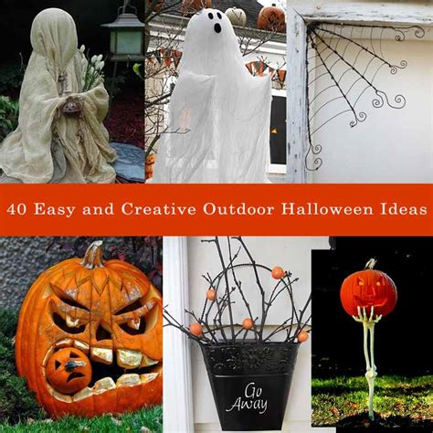 40 easy halloween decorations ideas 40 easy and creative outdoor halloween ideas my desired home
