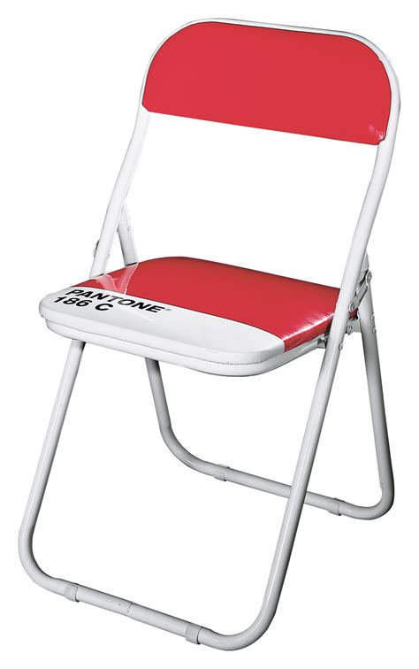Pantone Chairs pantone foldable chair plastic metal structure 186c ruby by seletti