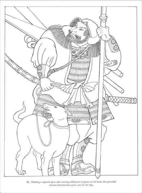japanese samurai warrior coloring coloring pages