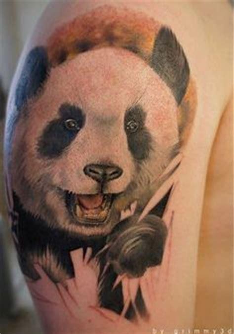 panda face tattoo panda tattoos on pinterest panda tattoos panda bear