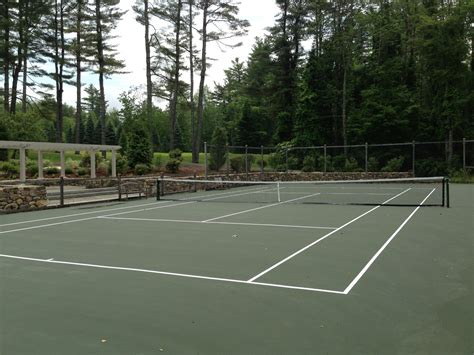 triyae building tennis court in backyard various