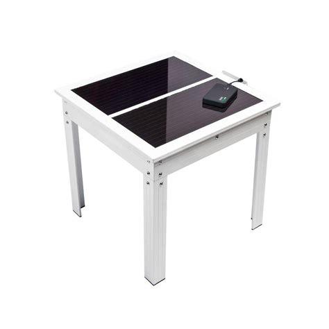 solar powered table l nature power savana solar powered patio table with power
