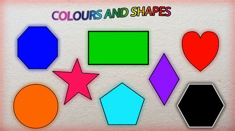 shapes and colors color book vol1 learn color and shapes shapes and