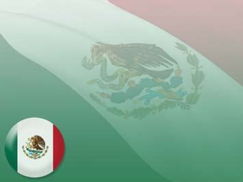 Mexico Flag 04 Powerpoint Templates Mexican Themed Powerpoint Template