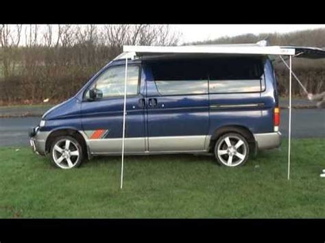 bongo awnings mazda bongo roll out awning sides youtube