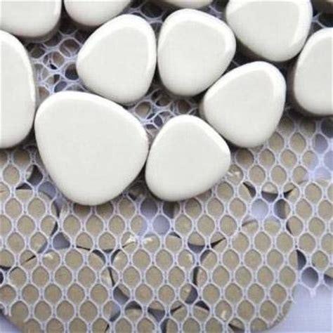 White Porcelain Backsplash by White Porcelain Tile Backsplash Pebble Mosaic Ceramic Tile
