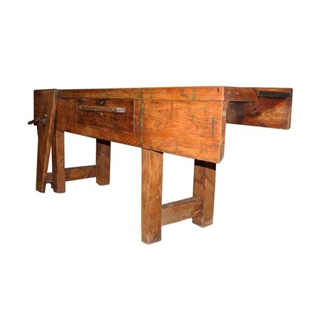 large work bench primitive carpentry workbench at 1stdibs