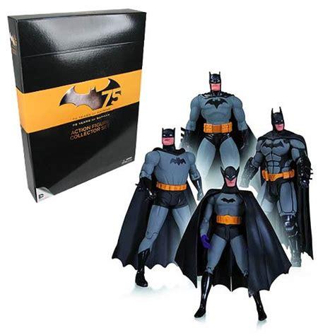 Figure Batman Set 4 batman 75th anniversary set 1 figure 4 pack dc collectibles batman figures