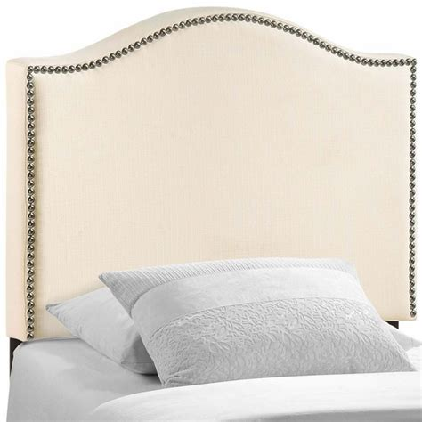Upholstered Headboard Nailhead by Curl Nailhead Upholstered Headboard Modern In Designs