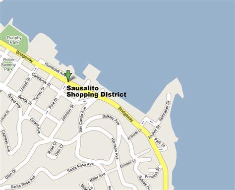 sausalito map sausalito map shopping guide san francisco s favorite