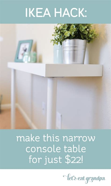ikea hack console table share it one more time