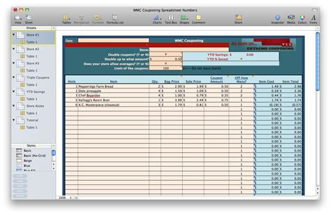 Coupon Spreadsheet by Krazy Couponing With Trish Couponing Spreadsheet