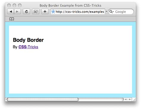 border layout using css creating an quot body border quot with css dzone web dev