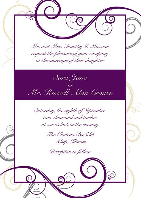 10 Invitation Templates Excel Pdf Formats Invitation Templates