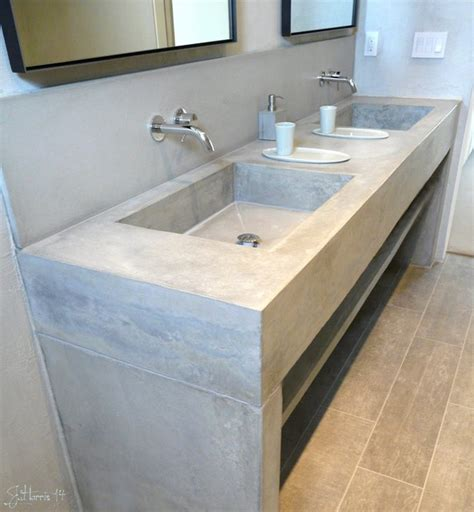 concrete bathroom vanity concrete vanities contemporary bathroom vanities and