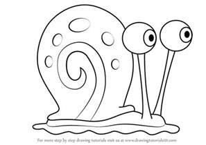 learn how to draw gary the snail from spongebob