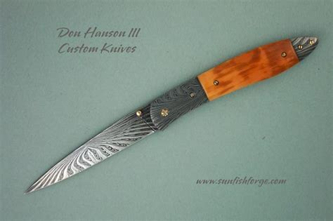 sunfish pattern knife don hanson custom folder gallery walrus horizon folder page