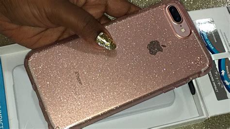 Speck Iphone 7 Plus Presidio Clear Gold Glitter Onix Black Clear 1 pink speck presidio clear glitter for the iphone 7