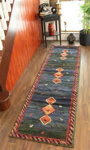 Floor Runner Rugs Navy Blue Olive Green Runner Rug Modern Design Floor Runner Mat Ebay