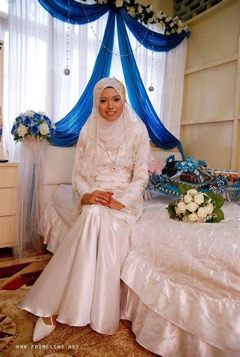 Maxi Nabilah Blue nabilah mat yasim white heels lace dress white my wedding day lookbook