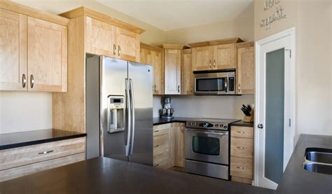 red birch kitchen cabinets natural red birch full view 1 mirage woodworks kitchen
