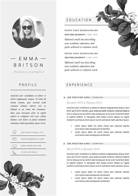 cv layout templates 25 unique resume templates ideas on resume