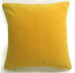 Plain Cushions Without Covers Mb68a Yellow Plain Flat Velvet Style Cushion Cover Pillow