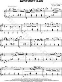 "Guns N' Roses ""November Rain"" Sheet Music (Piano Solo) in"